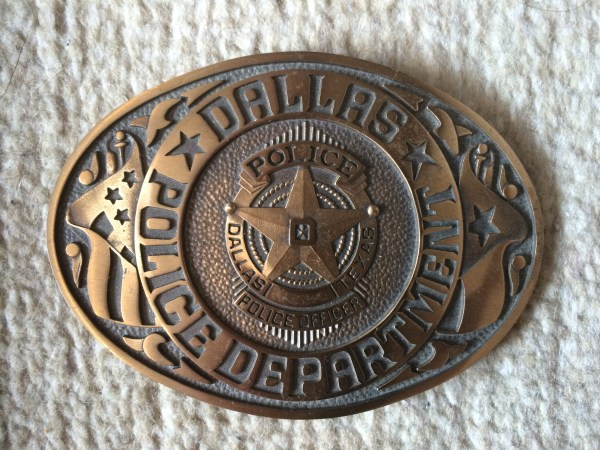 Dallas Police Buckle. Pic. Barto