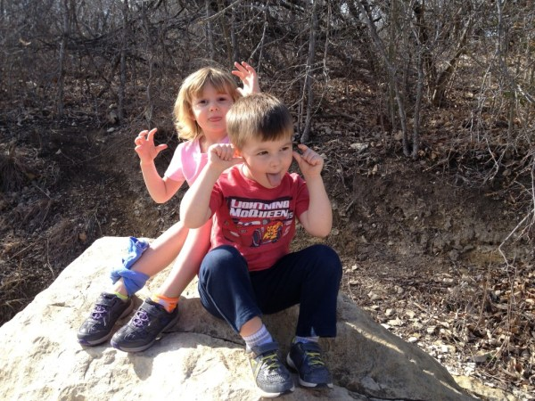 From our 1st Sabbath hike. Love those silly faces!