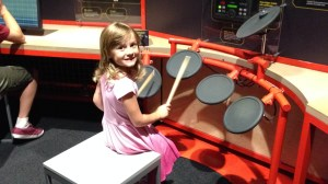 Fun playing the drums at the Perot Museum