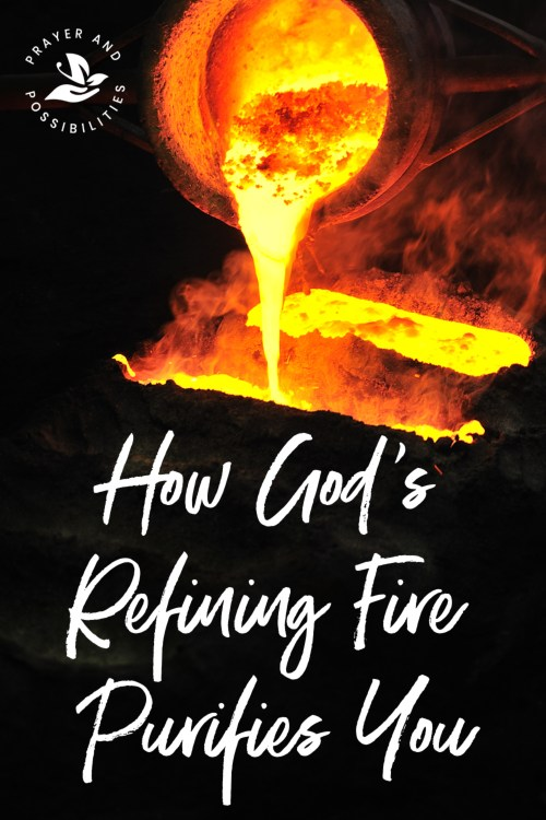 Are you in the fire? Walking through trials in life? God's refining fire may be at work purifying you and bringing you closer to him. Learn how God's refining fire works and 3 ways to sustain through the process.