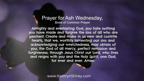 Prayer for Ash Wednesday