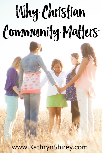 Think you don't need a church or an 'in real life' Christian community? Think again. Christian community matters. Being connected is vital for our faith! Who is your community? Who is standing by your side and supporting you? Who are you supporting?