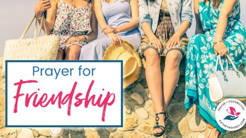 A daily prayer for friendships. Pray to give thanks for your friendships and ask God's help to be a better friend to others.