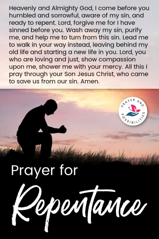 A daily prayer for repentance. Pray to turn from your sins and walk instead in God's way. Pray for repentance and salvation.