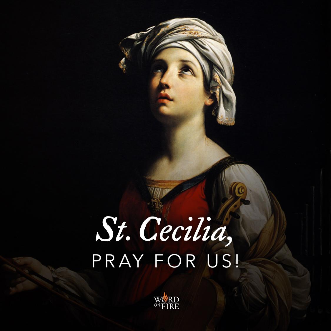 Prayergraphics Com 187 St Cecilia Pray For Us