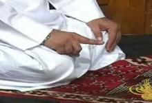 Tashahhud during the prayer.