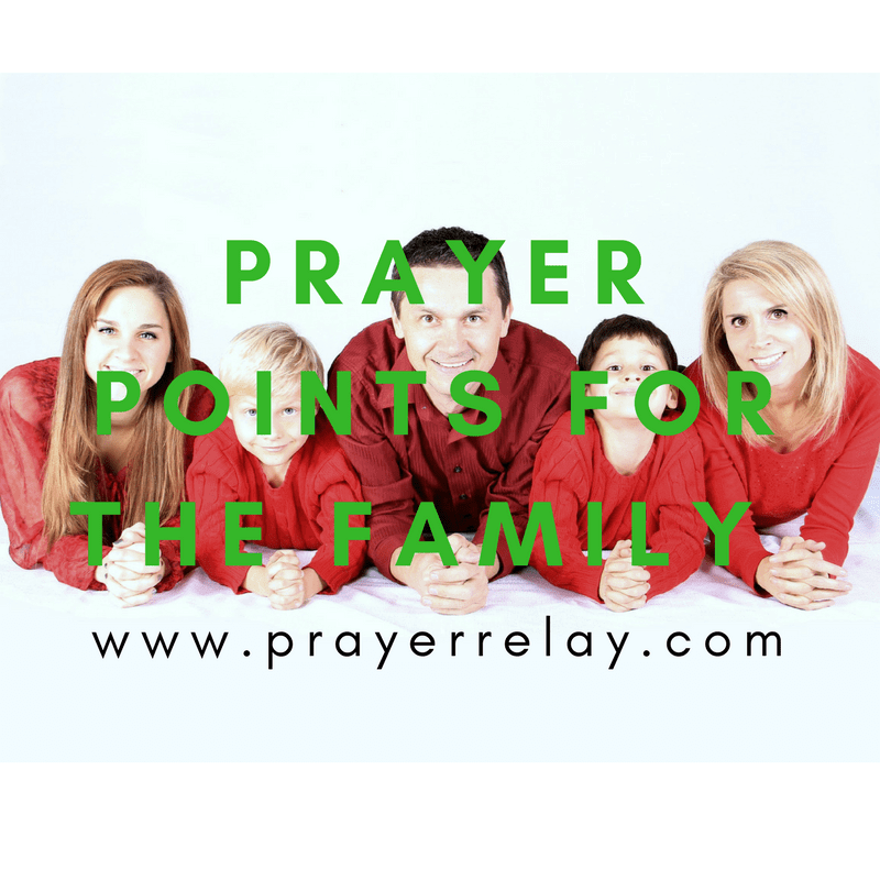 Prayer Points for the Family