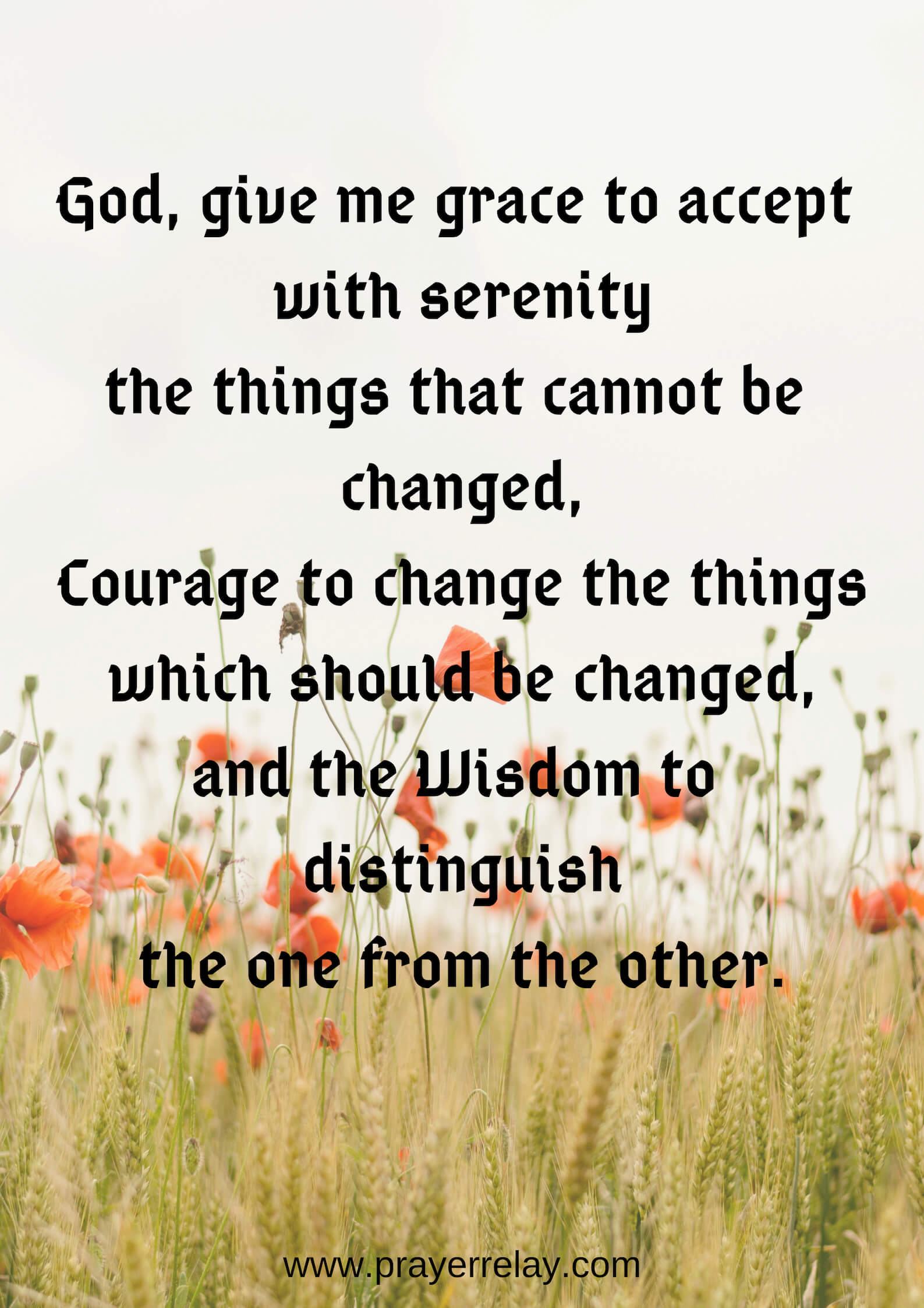 The Serenity Prayer Ultimate Guide #1 - The Prayer Relay ...