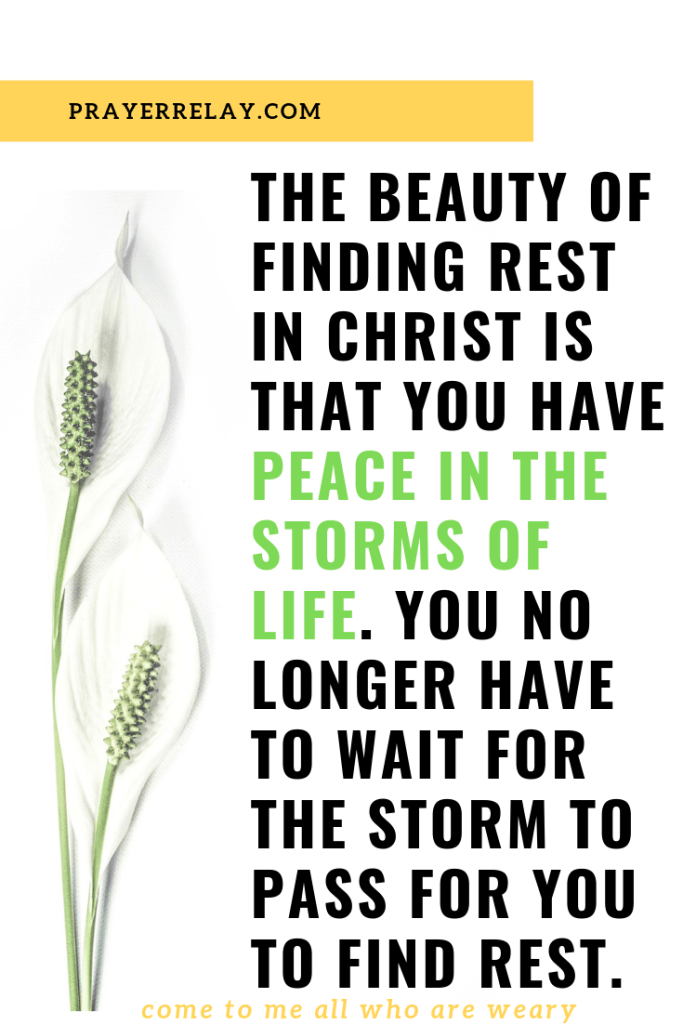beauty of finding rest in christ