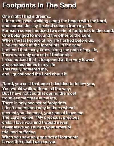 Footprints Prayer