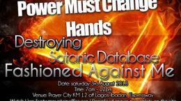 Power must change hands programme August 2013