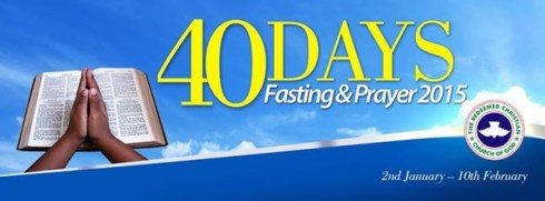 40 DAYS PRAYER AND FASTING - RCCG CITY OF DAVID