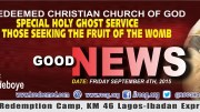 RCCG SPECIAL HOLY GHOST SERVICE - SEPTEMBER GOOD NEWS -2