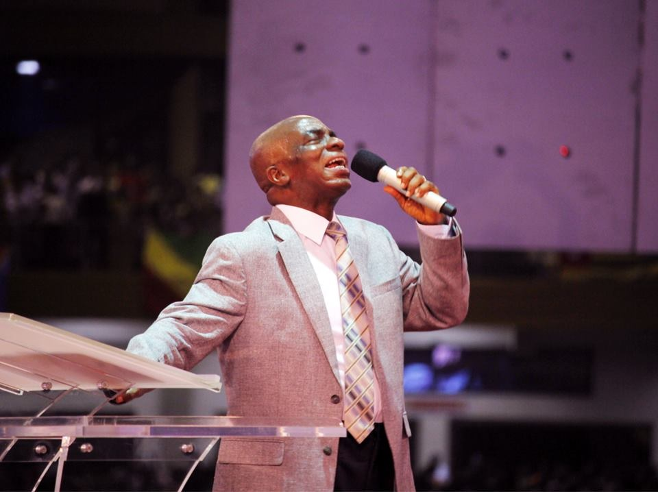 Bishop David Oyedepo in the spirit of prophecy