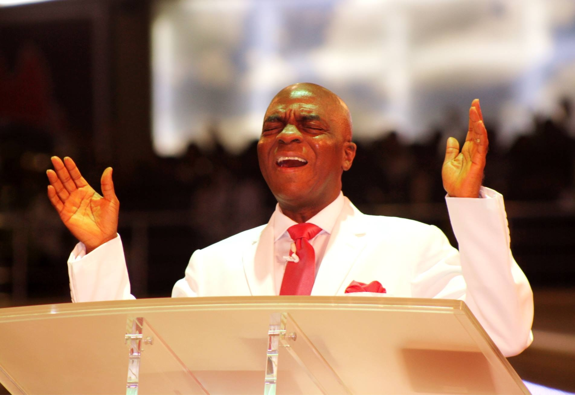 Bishop David Oyedepo spitting prophetic fires