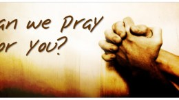 Prayer Request. ... Praying for you