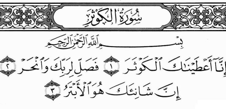 Surah Kausar Benefits