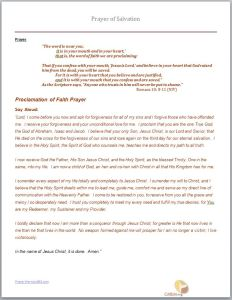 Prayer-of-Salvation- Proclamation of Faith
