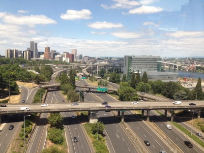 Traffic on I-5 in Portland, Oregon