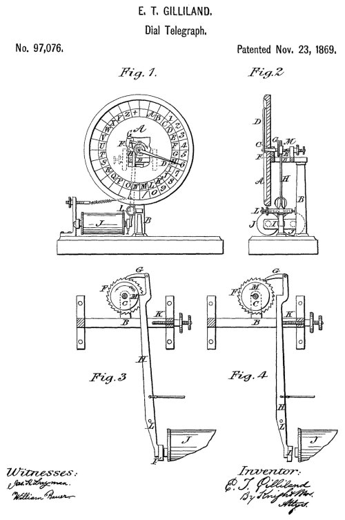 small resolution of 97076 dial telegraph apparatus e t gilliland