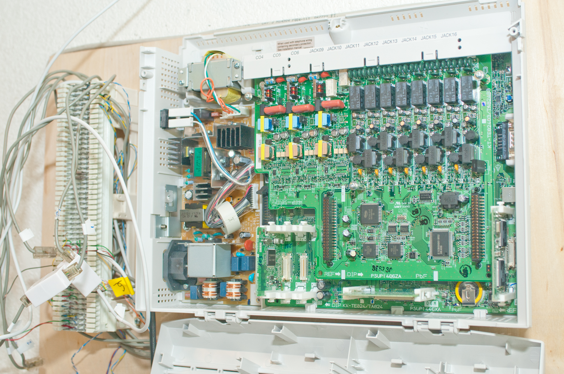 Network Connection Wiring Diagram Panasonic Kx Ta824 Telephone System