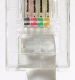 quad telephone cable 2 pair plug color order [ 1280 x 2703 Pixel ]