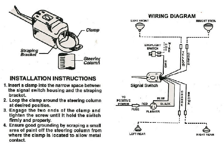 grote turn signal switch wiring diagram 48272 - auto ... universal directional switch wiring diagram #3