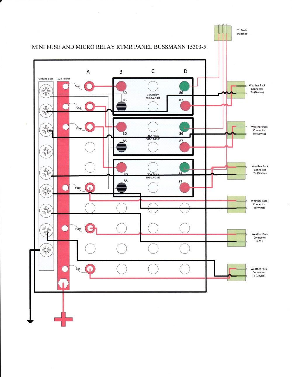 medium resolution of bussmann 15303 fuse and relay box 33 wiring diagram mini cooper fuel pump wiring diagram mini