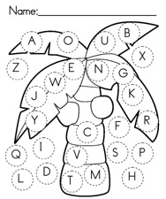 Abc Coconut Tree Page Coloring Pages