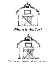 Lesson Planning with Me!: Where is the Cow? booklet