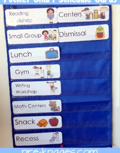Printable picture schedule cards for preschool and kinder via pre kpages also kindergarten rh