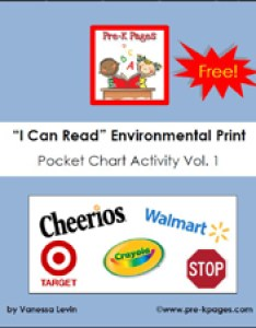 Free environmental print pocket chart printable activity via pre kpages also what is rh