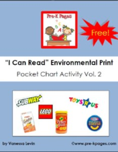 Free printable environmental print pocket chart activity via pre kpages also what is rh