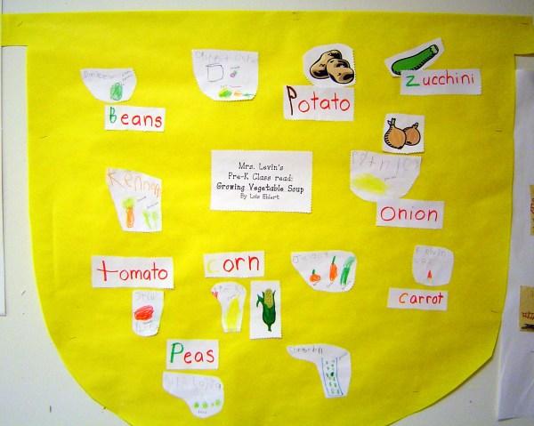 Growing Vegetable Soup Preschool Activities