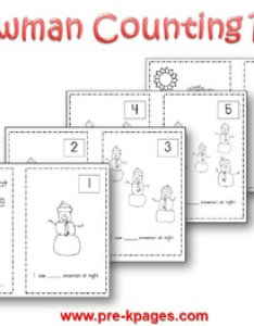 Printable snowman counting book via pre kpages also winter theme activities for preschool rh