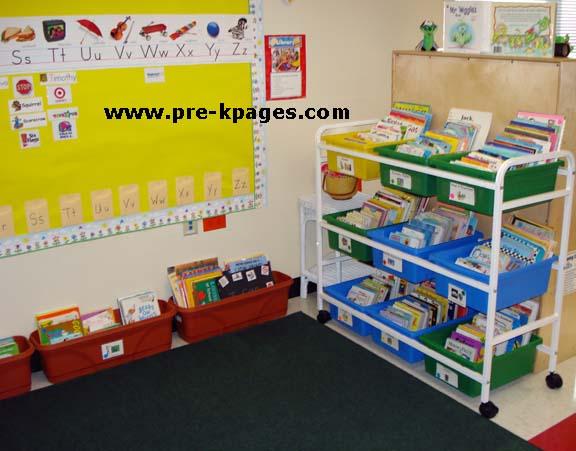 Classroom Library Center In Preschool Pre K And