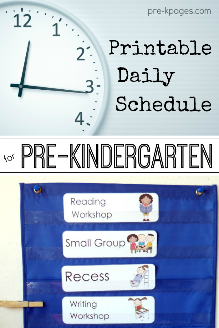 daily classroom schedule templates