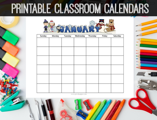 Printable Homework Calendars | Preschool | Kindergarten | Pre-K Pages