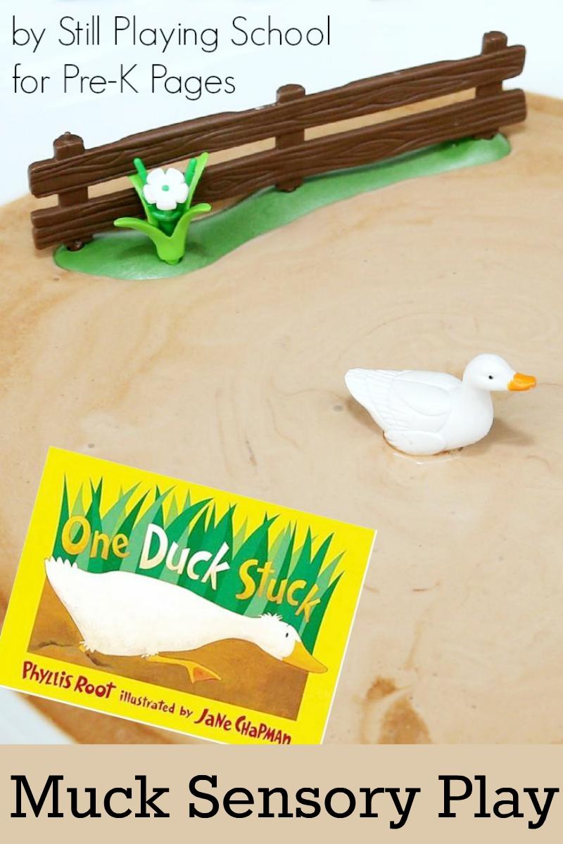 One Duck Stuck Muck Sensory Play