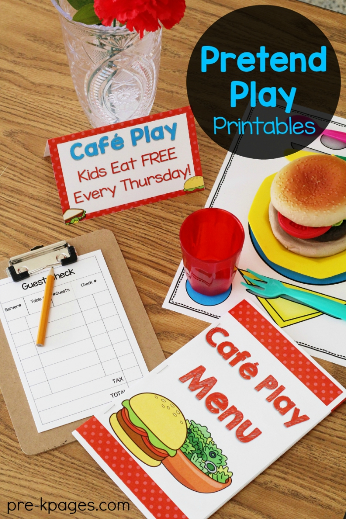 Dramatic Play Restaurant | Pre-K Pages