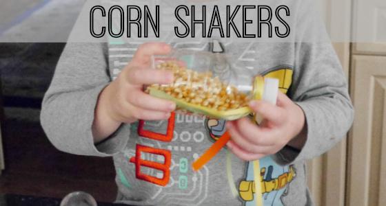 Corn Shakers Music Activity