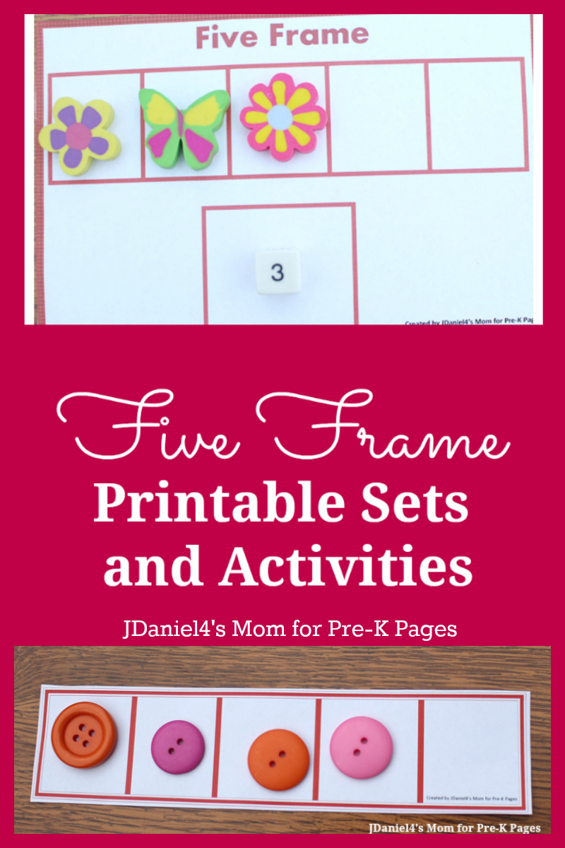 Five Frames Activities For Preschool Pre K Pages