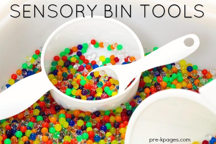 Sensory Bin Tools for Sensory Play in Preschool  PreK Pages