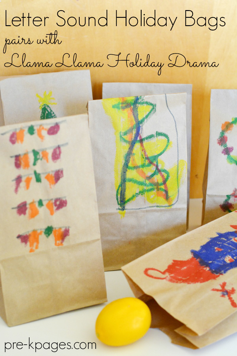 Holiday Letter Sounds Bags Pre K Pages