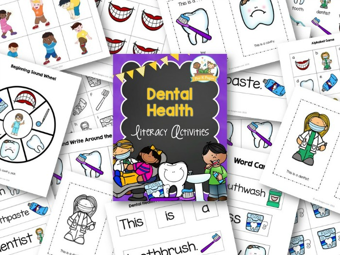 Dental Health Literacy Activities Pre K Pages