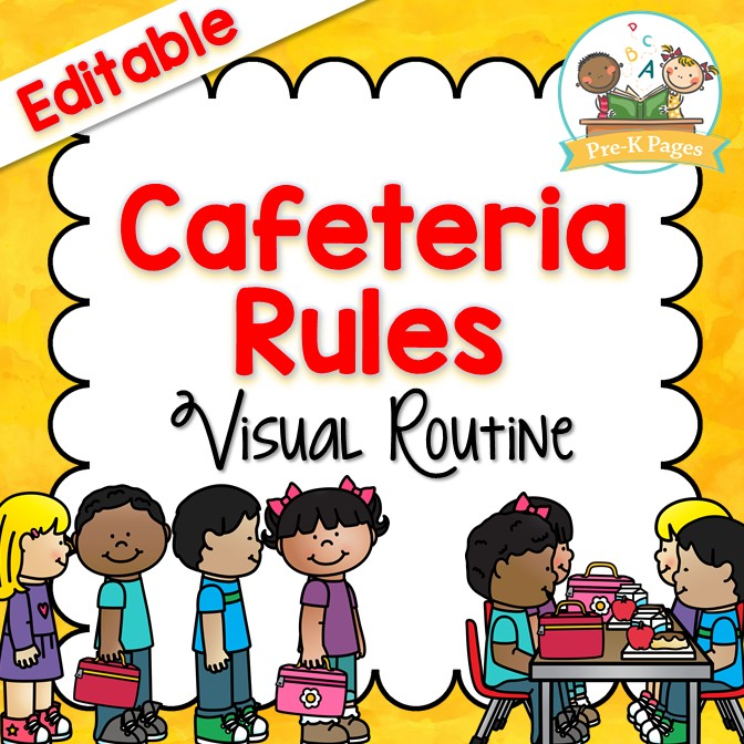 Cafeteria Visual Routine Pre K Pages
