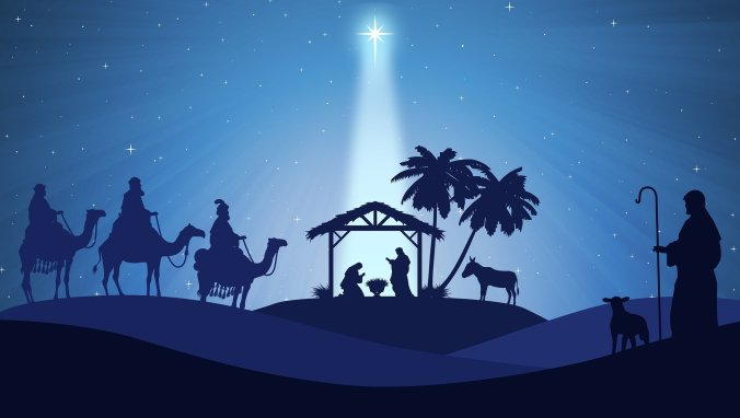 An image of the wise men following the Christmas Star signifying one of the ways God spoke at Christmas time.