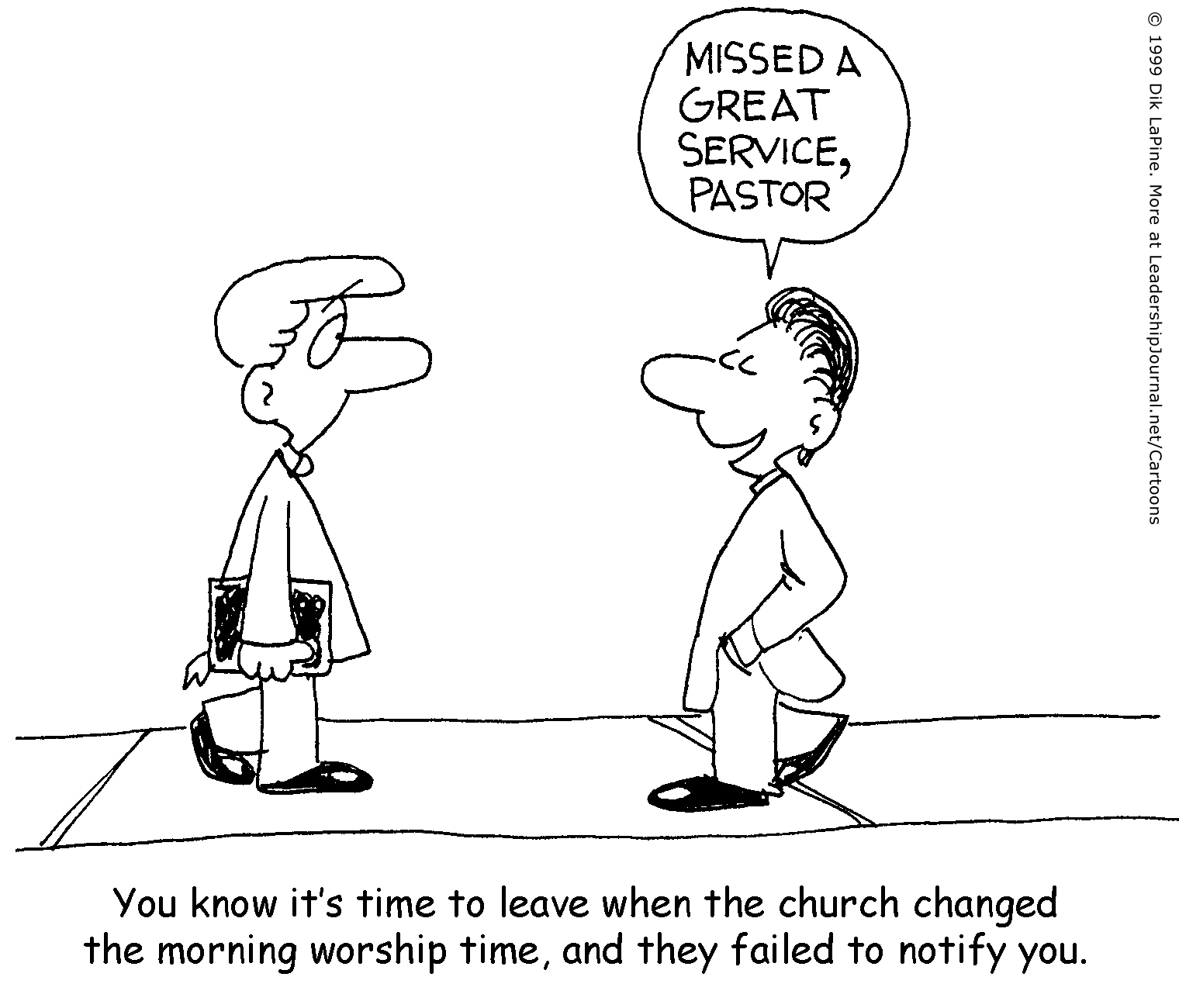 Change Of Service Ousts Pastor
