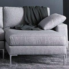 Modern Twine Curved Arm Sofa Circular Dimensions Precedent Furniture Attainable