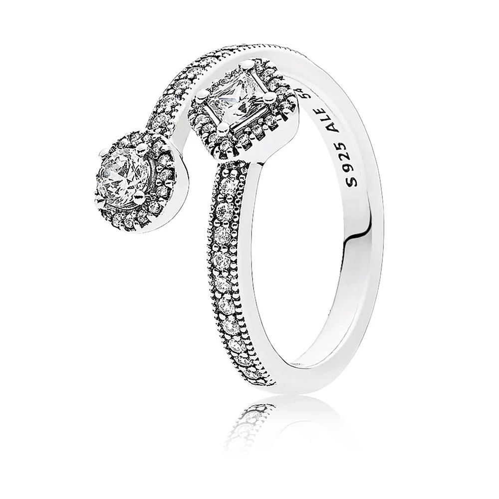 PANDORA Abstract Elegance Ring, Clear CZ: Precious Accents